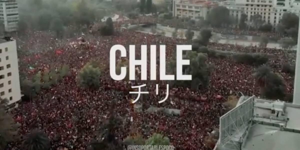 Recrean el opening de Evangelion con las protestas en Chile