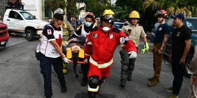 Derrumbe de finca provoca un muerto y 12 lesionados en Zona Rosa de Guadalajara