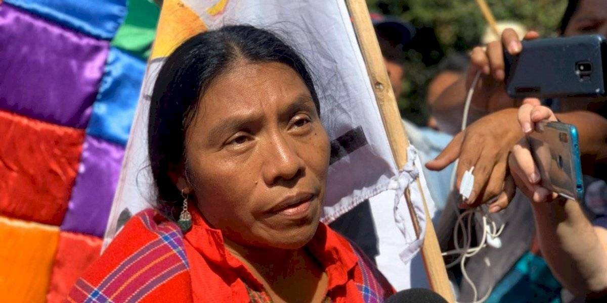 Excandidata presidencial Thelma Cabrera envía mensaje a Evo Morales