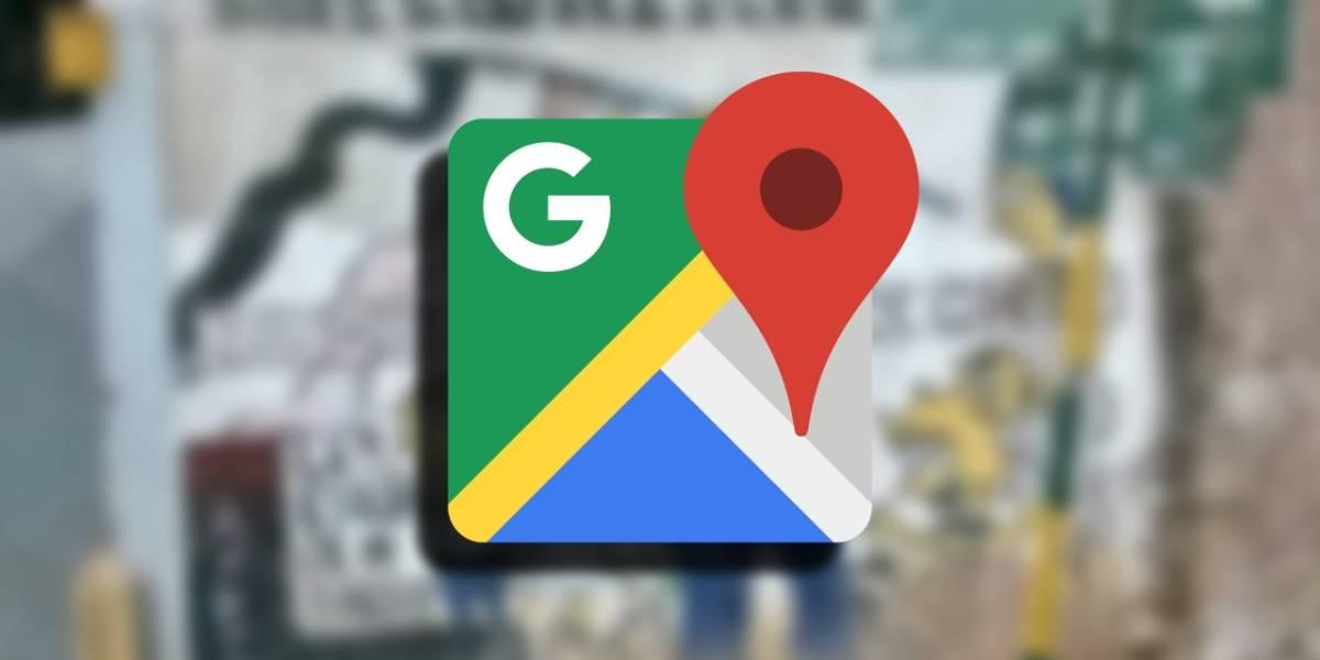 Google Maps: Captan importante mensaje con imágenes de Los Simpson