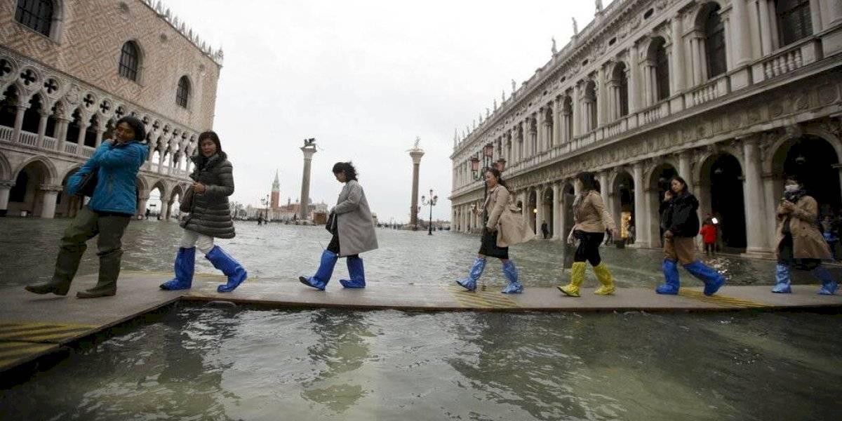 Venecia sufre una nueva marea alta, algo inusual en junio
