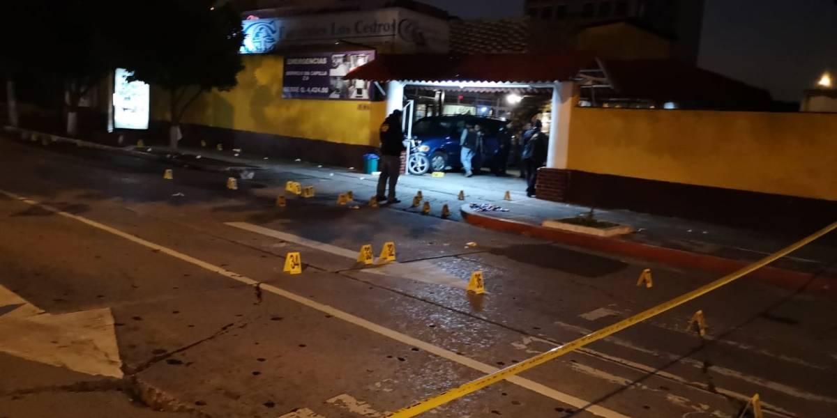 Tiroteo en velorio deja dos muertos y tres heridos en la zona 9