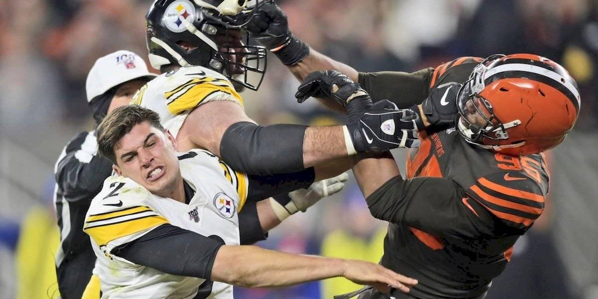 NFL anuncia dura sanción contra Myles Garrett por pelea ante Rudolph