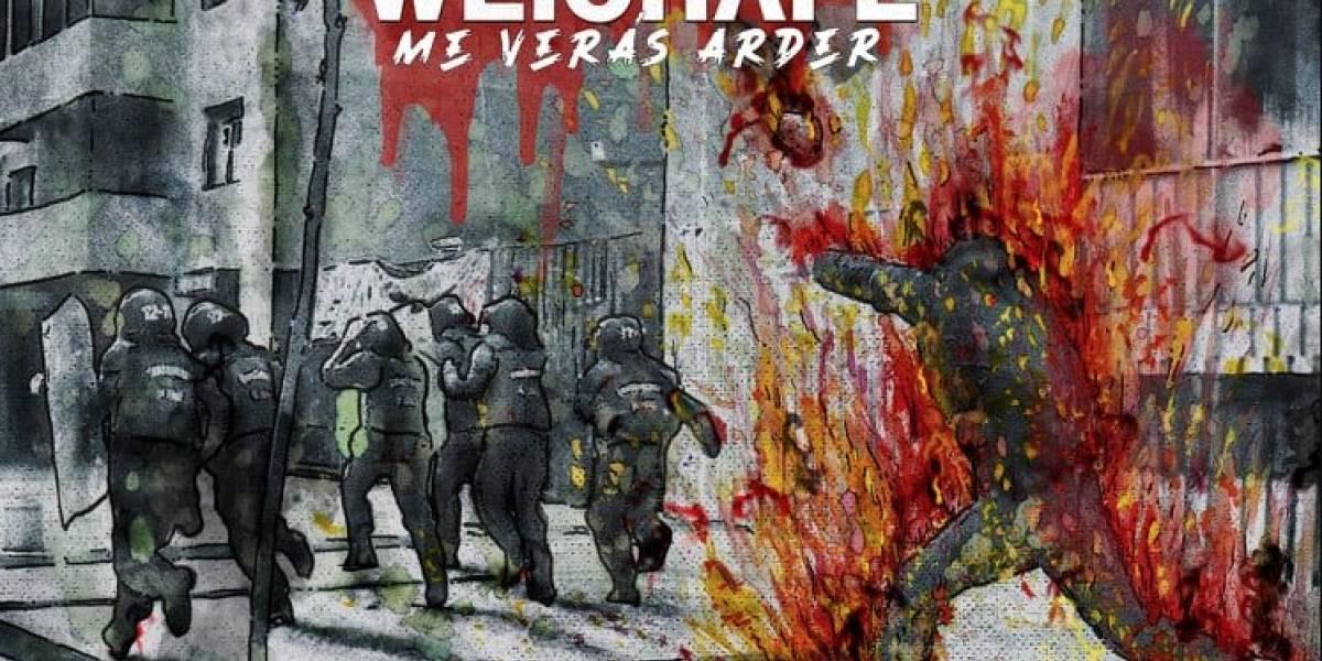 "Weichafe lanza ""Me verás arder"", canción que apoya el movimiento social"