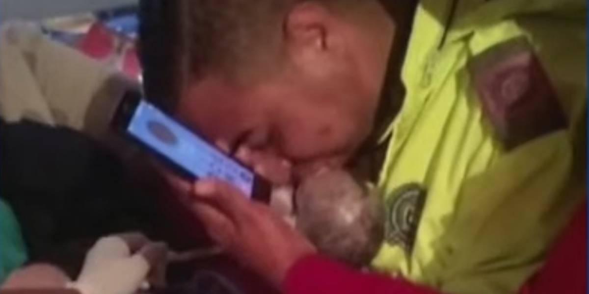 Policía reanima a recién nacido con instrucciones mediante celular — Colombia