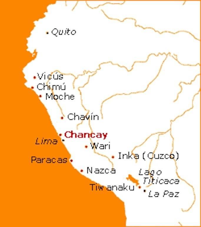 Ubicación de la cultura chancay durante la época prehispánica. Foto: Historia del Perú