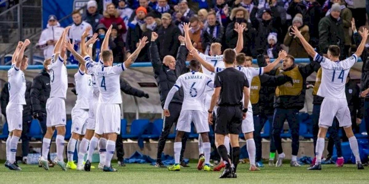 Finlandia jugará su primer torneo grande tras clasificar a la Eurocopa 2020