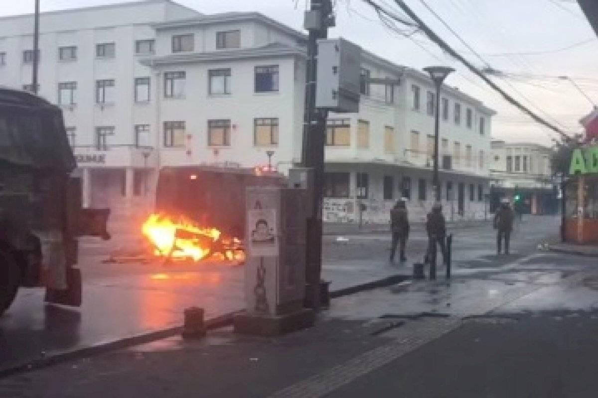 Puerto Montt: desconocidos saquean catedral y utilizan bancas como barricadas - Publimetro Chile