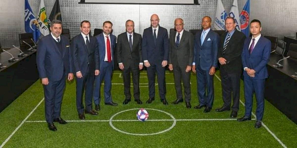 Con Florentino Pérez como primer presidente fue creada la nueva Asociación Mundial de Clubes de Fútbol