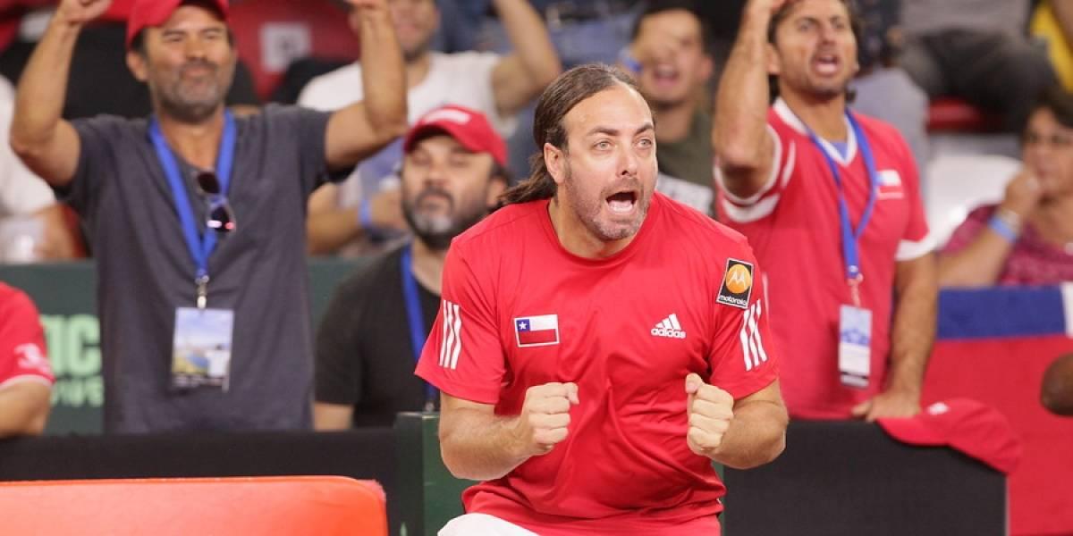 Equipo, capitán y jugadores de Chile — Copa Davis Madrid