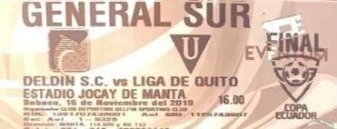 Entradas partido Delfín vs.Liga de Quito