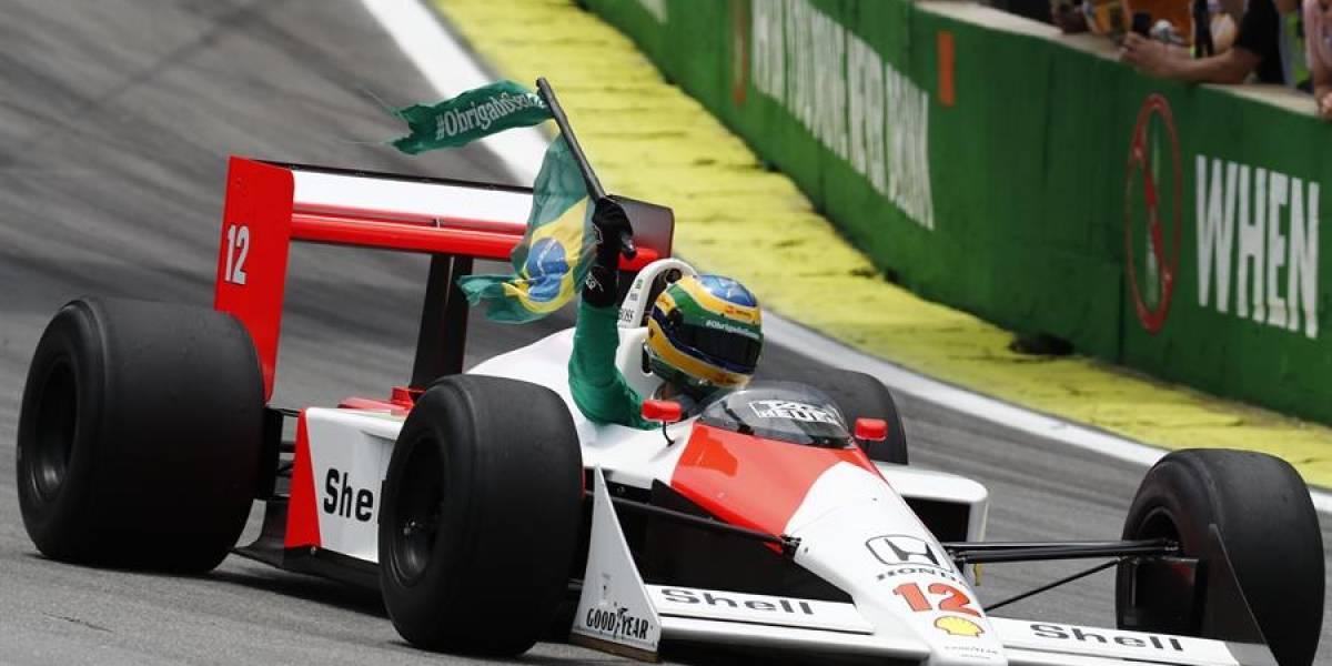 VIDEO: Realizan emotivo homenaje para Ayrton Senna en el GP de Brasil