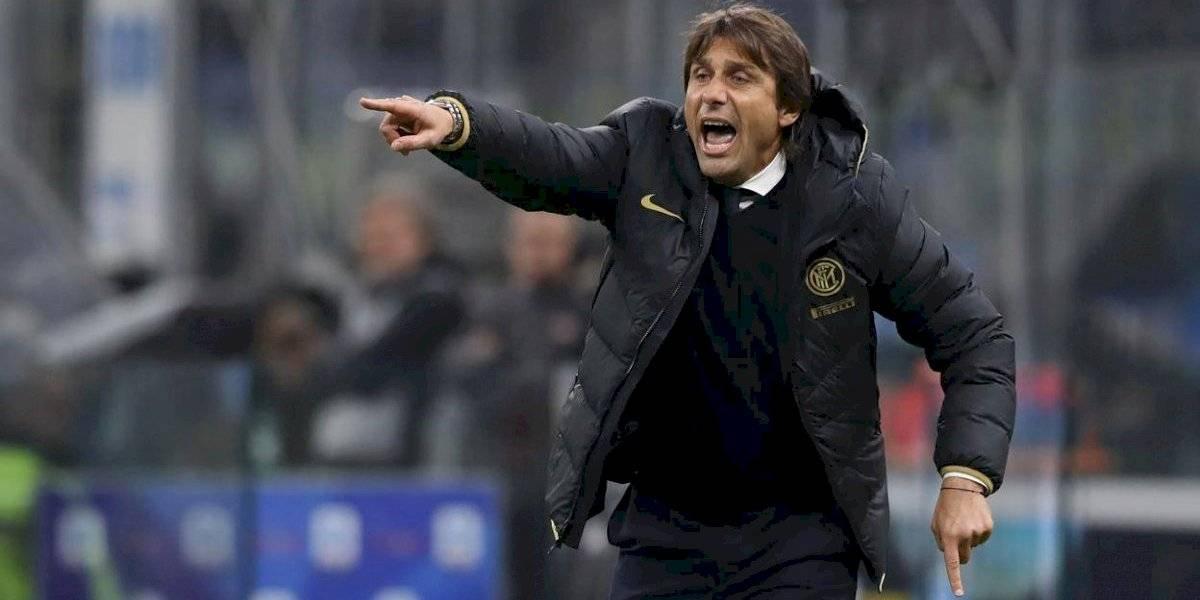 Antonio Conte, DT de Inter de Milan recibió una carta con una bala