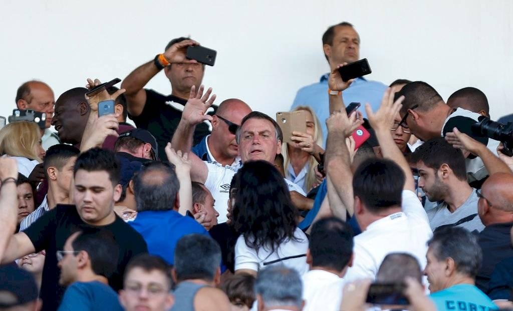 Bolsonaro en las tribunas de Urbano Caldeira / Foto: Getty Images
