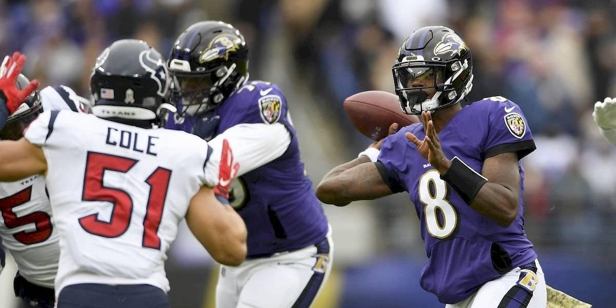 Lamar Jackson comanda paliza de los Ravens a los Texans