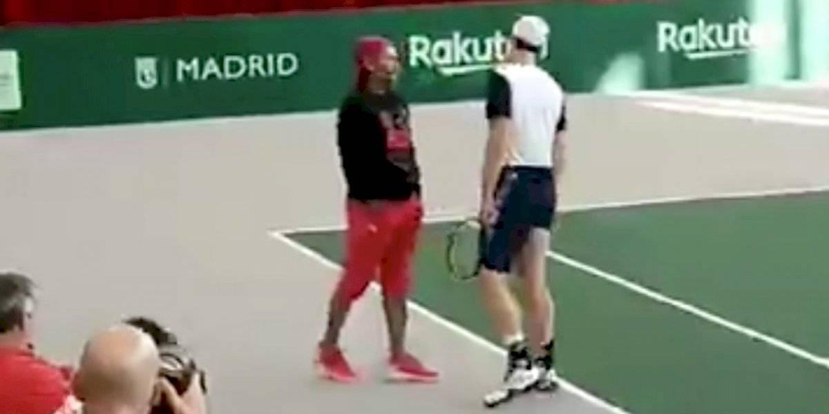 Encuentro de leyendas en Madrid: Marcelo Ríos y Andy Murray tuvieron distendida conversación en Copa Davis