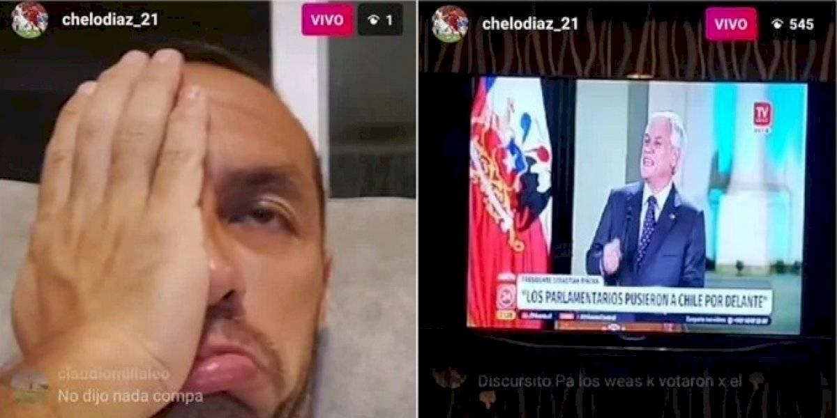 """Esta canción no dice nada..."": Marcelo Díaz ironizó con nuevo discurso del Presidente Piñera"
