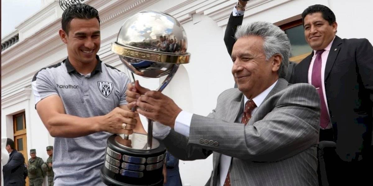 Moreno condecoró a Independiente del Valle en Carondelet