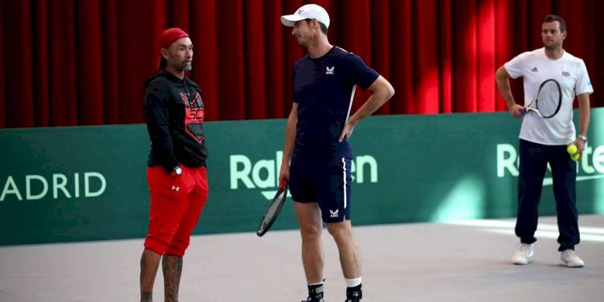 Andy Murray llenó de elogios al Chino Rios y a Massú tras entrenamiento con Garin en la Copa Davis