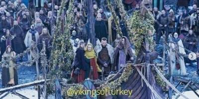 funeral de Lagertha, Vikingos