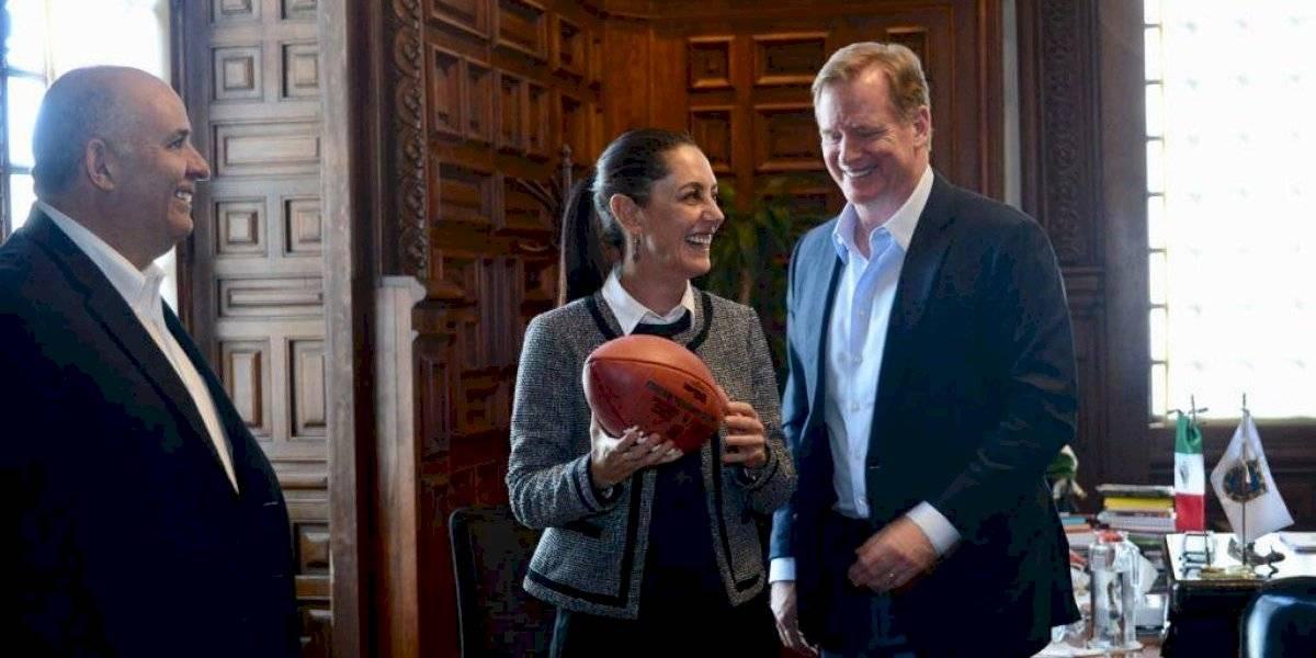 Claudia Sheinbaum se reunió con Roger Goodell, comisionado de la NFL