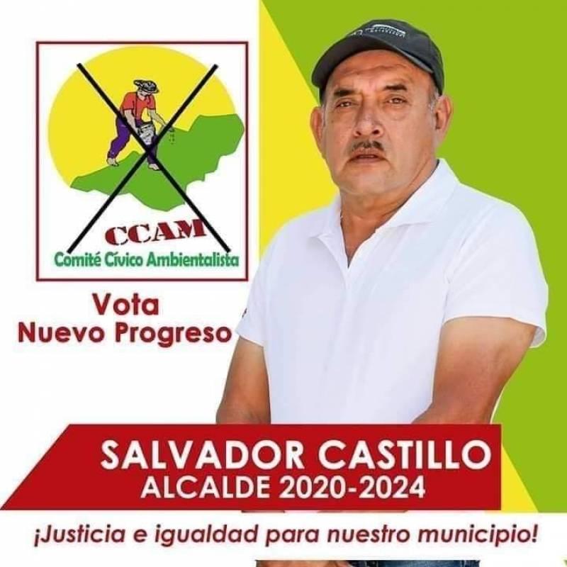 Muere Salvador Castillo, alcalde electo de Nuevo Progreso, San Marcos