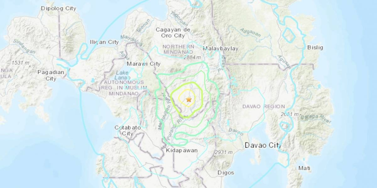 Fuerte sismo de magnitud 5.9 sacude Filipinas