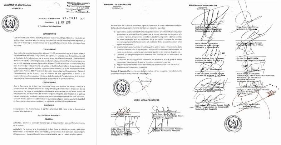 Acuerdo Gubernativo 97-2019