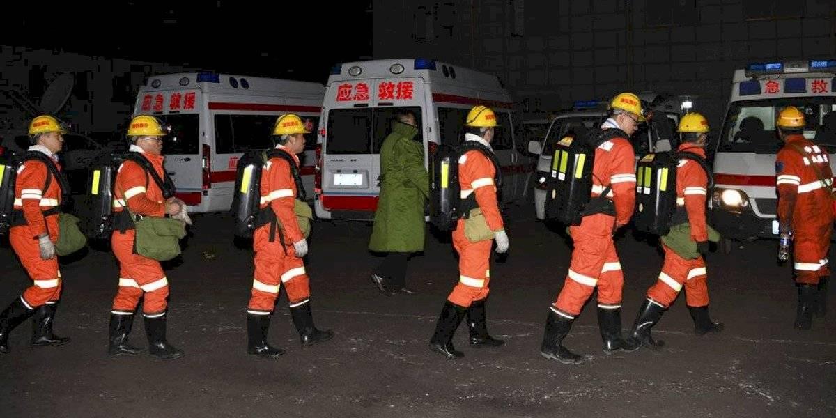 Quince mineros murieron tras una explosión de gas dentro de un yacimiento de carbón en el norte de China