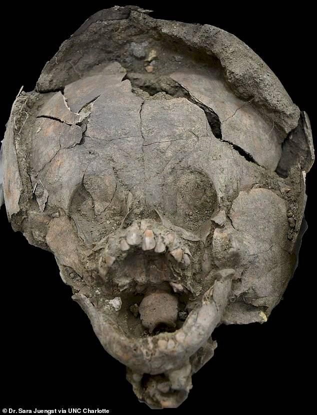 """Científicos encuentran antiguas tumbas de niños que usaban cascos de """"cráneo humano"""""""