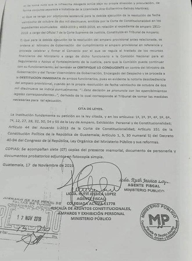 Piden destitución del ministro de Gobernación, Enrique Degenhart