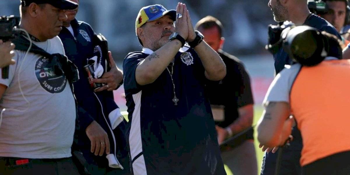 """Maradona se despidió con emotiva carta: """"Estábamos encontrando el camino para que Gimnasia se quede en Primera"""""""