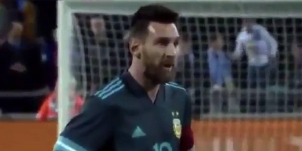 VIDEO: Cavani reta a Messi a pelear y él responde 'cuando quieras'