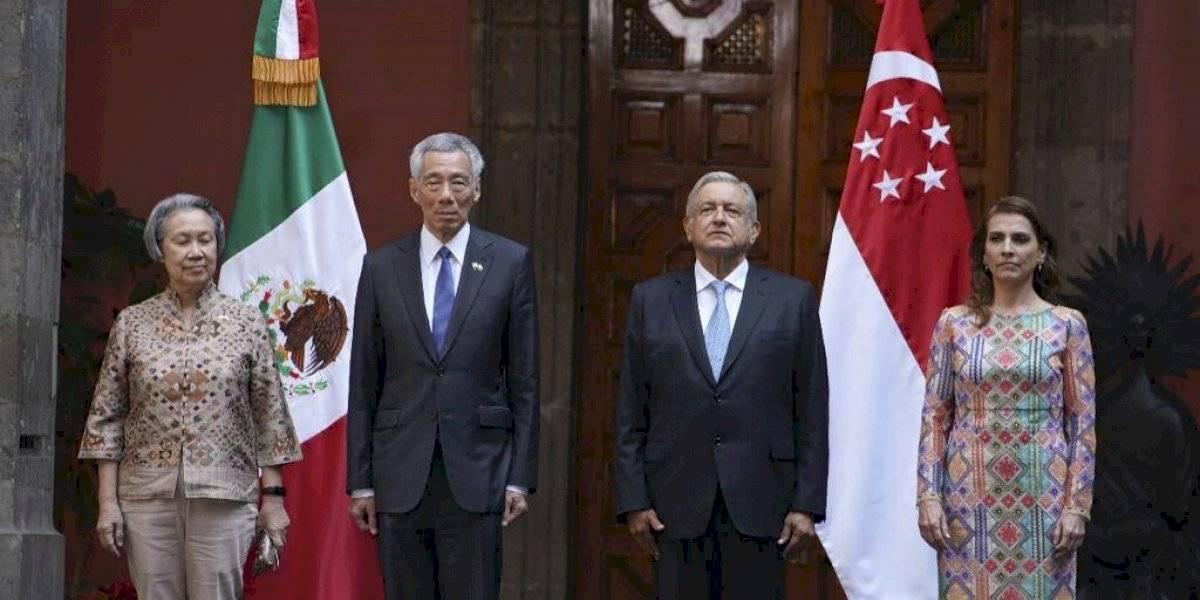 Se reúne AMLO con el primer ministro de Singapur en Palacio Nacional