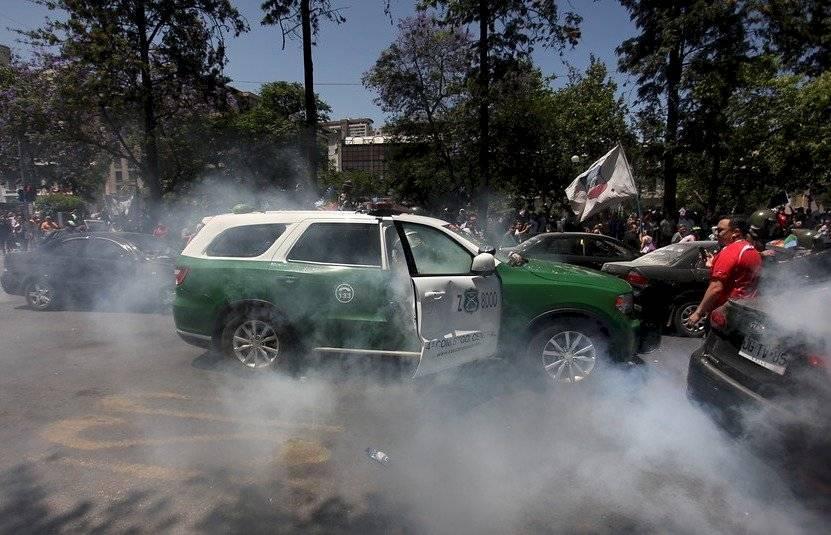 """Resultado de imagen de ataque a carabineras alameda con amunátegui"""""""