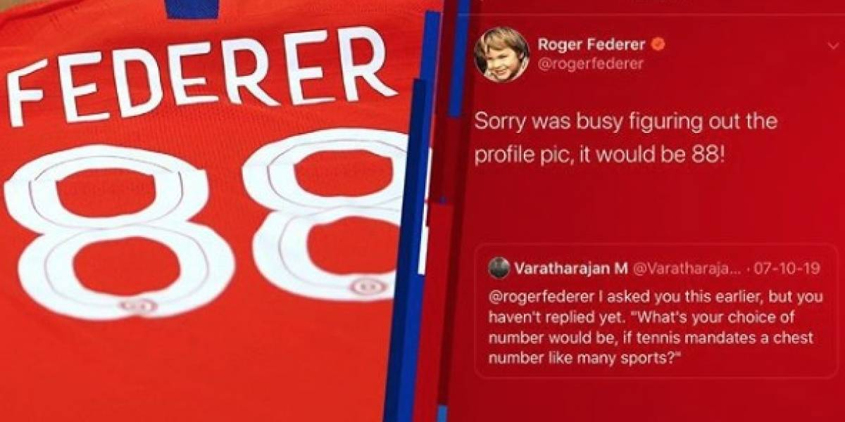 La Roja le regaló la camiseta de la Selección chilena a Roger Federer