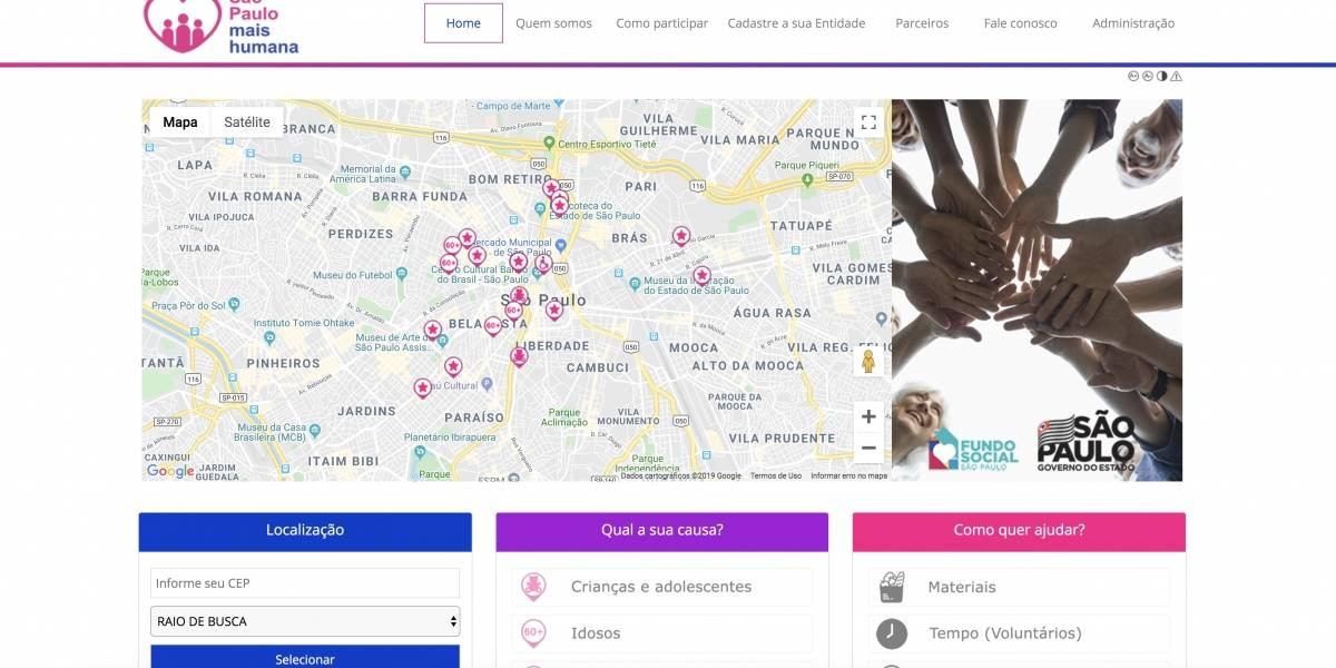 Aplicativo facilita doações para ONGs em São Paulo