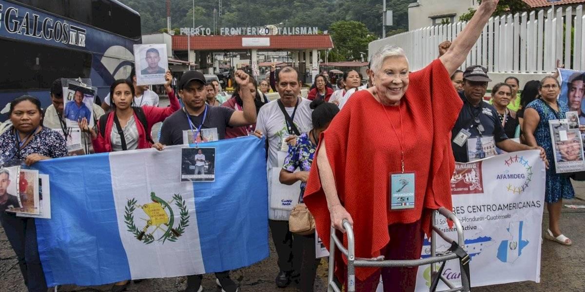 Caravana de centroamericanos llega a México en busca de desaparecidos