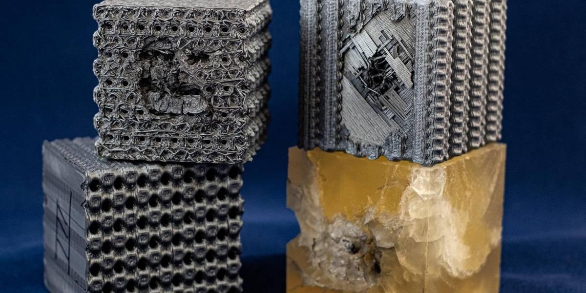 Imprimen en 3D cubos de plástico con patrones que pueden detener las balas