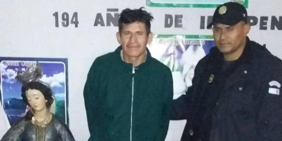 Hombre es condenado a 12 años por robar imagen religiosa en Jutiapa en 2015