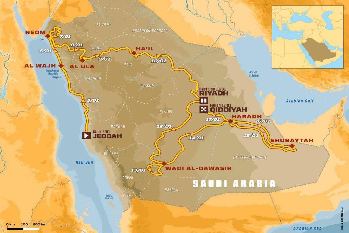 Mapa Dakar