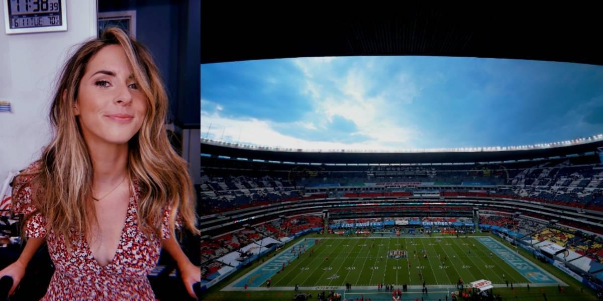 Periodista canadiense insulta al Estadio Azteca durante juego de NFL