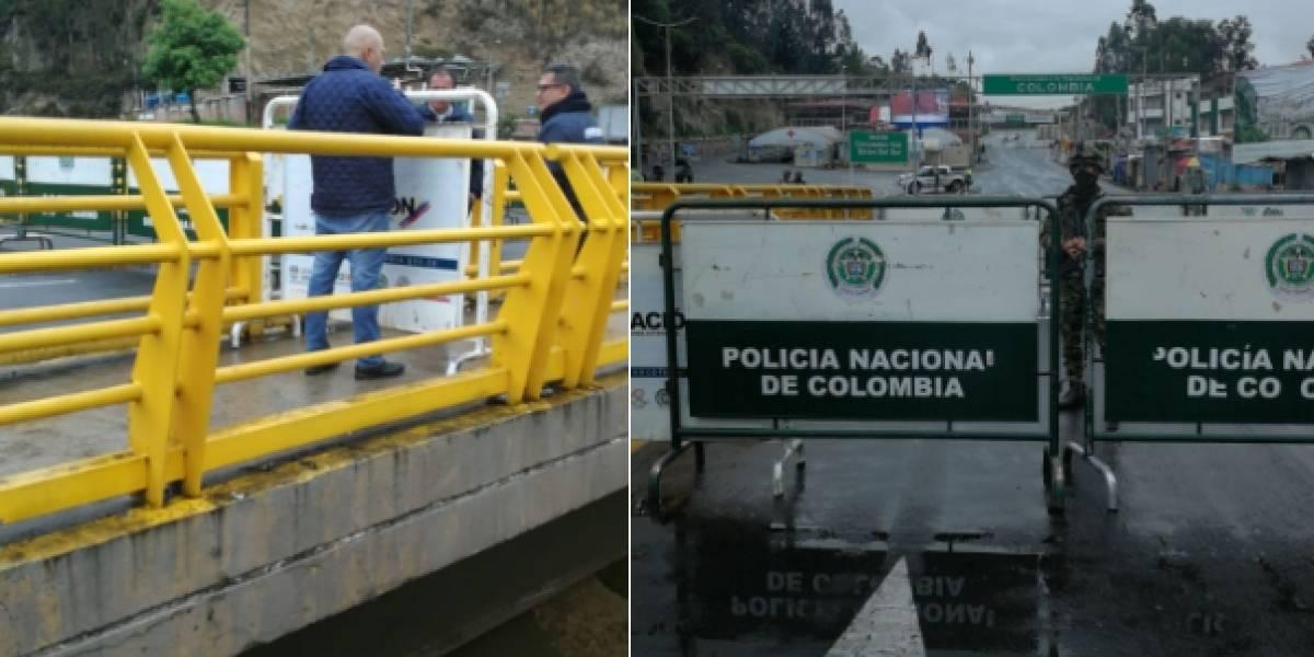 Se adelantó el cierre fronterizo entre Ecuador y Colombia