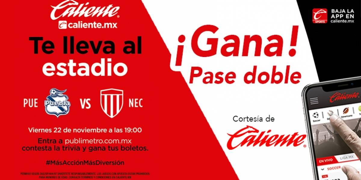 Gana pase doble para el partido Puebla vs Necaxa