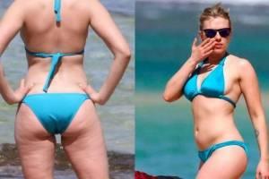 Scarlett Johansson tem corpo criticado e internet sai em defesa