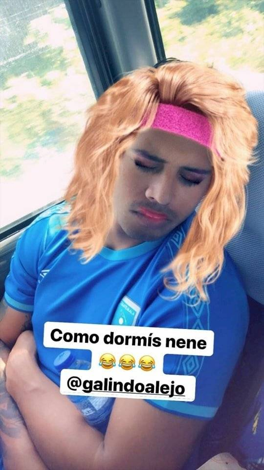 Alejadnro Galindo víctima de los filtros de Instagram