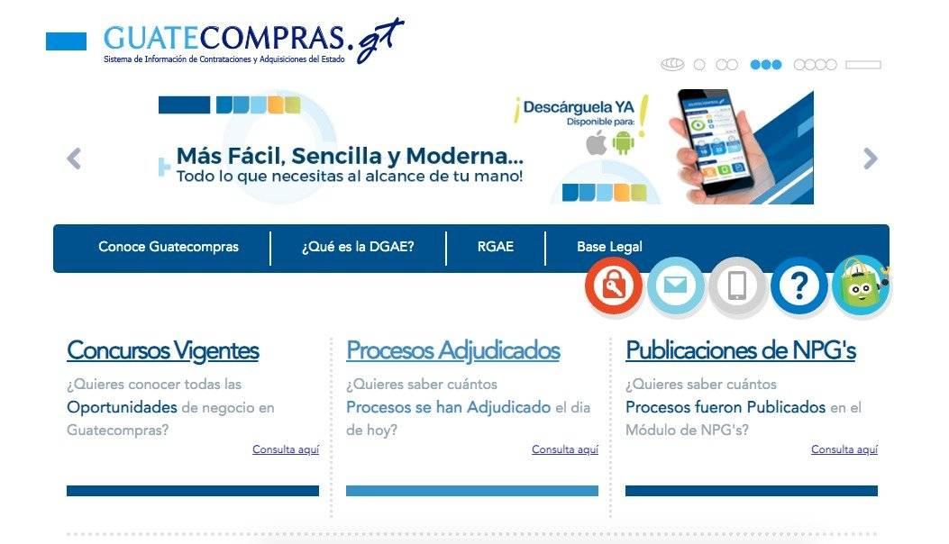 Presentan aplicación móvil del Guatecompras