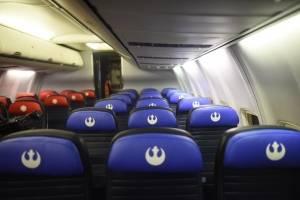 Asientos del Boeing de United con temática de Star Wars: The Rise of the Skywalker