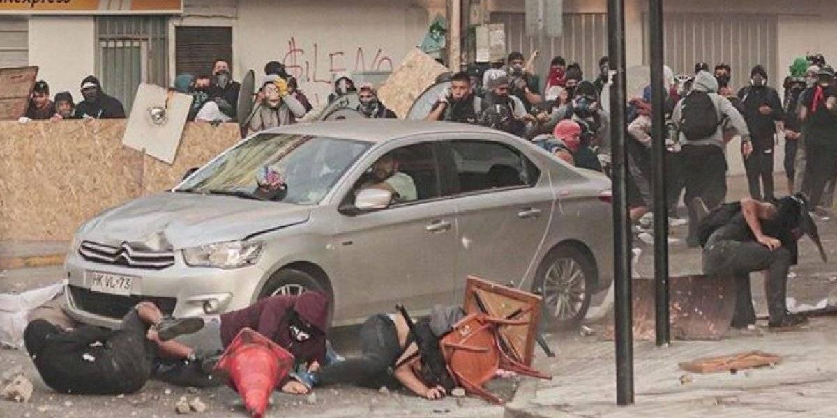 Criminal atropello intencional a un grupo de manifestantes en Antofagasta