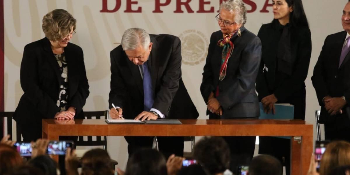 Firma AMLO el Acuerdo Nacional por la Igualdad entre Mujeres y Hombres